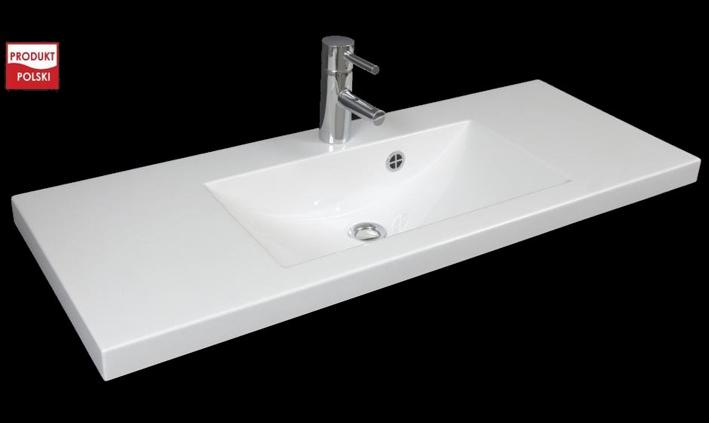 Aufsatzwaschbecken Gussmarmor Waschbecken 100cm 1000mm Bad