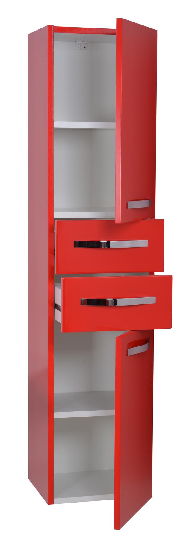 neu hochschrank klein schrank universal rot hochglanz direkt vom hersteller ebay. Black Bedroom Furniture Sets. Home Design Ideas