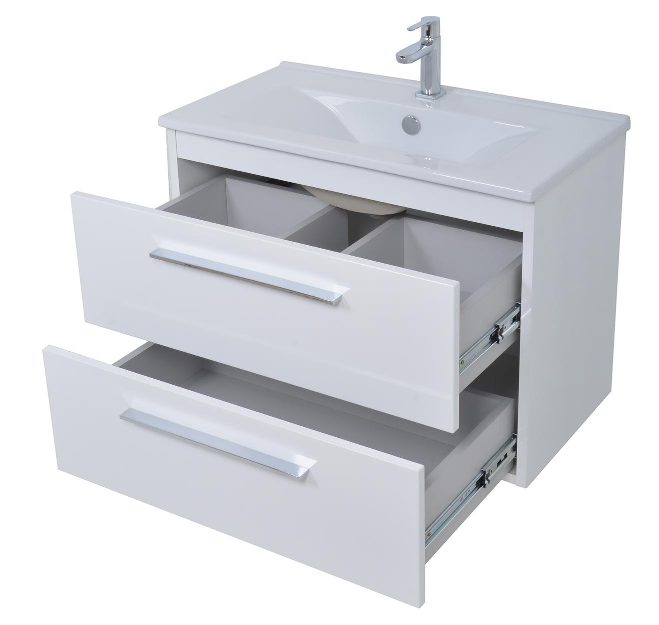 neu waschbeckenunterschrank mit waschbecken 82 direkt vom hersteller ebay. Black Bedroom Furniture Sets. Home Design Ideas