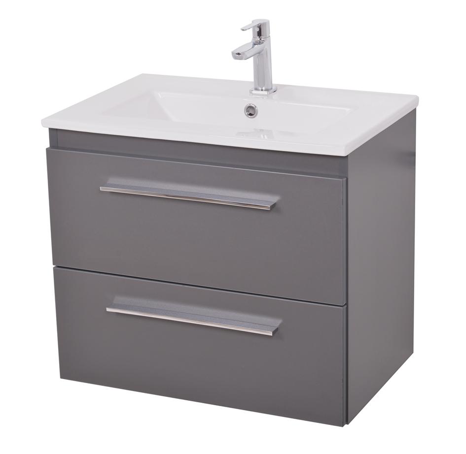 badm belset nexus 52 6 tg mit waschbecken graphit vom. Black Bedroom Furniture Sets. Home Design Ideas