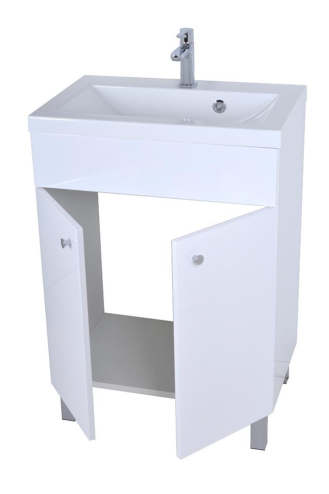 sonderpreis mineralguss waschbecken mit unterschrank 60cm viele farben ebay. Black Bedroom Furniture Sets. Home Design Ideas