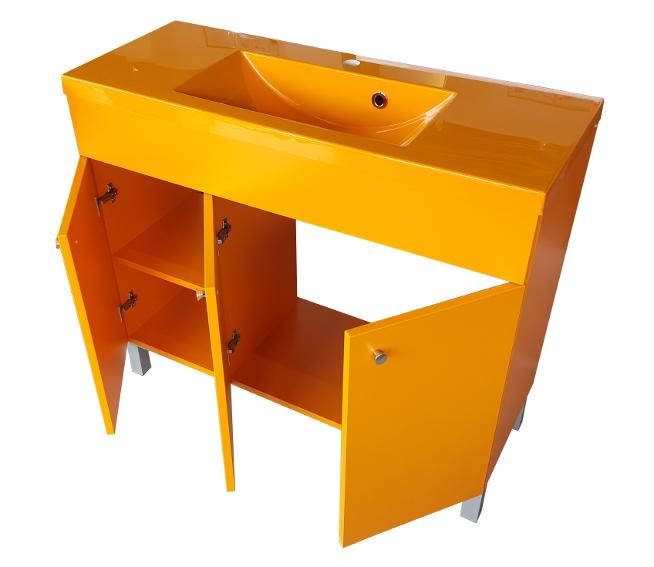 badm bel set iga 100cm waschbecken mit unterschrank waschtisch hochglanz grau ebay. Black Bedroom Furniture Sets. Home Design Ideas