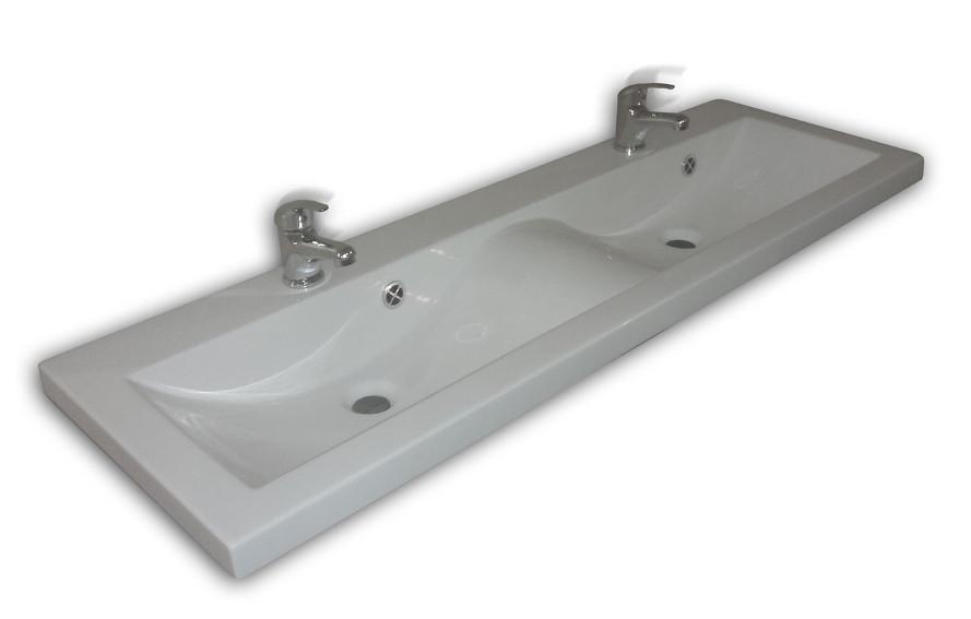 doppel mineralguss waschbecken mit unterschrank 120 cm. Black Bedroom Furniture Sets. Home Design Ideas