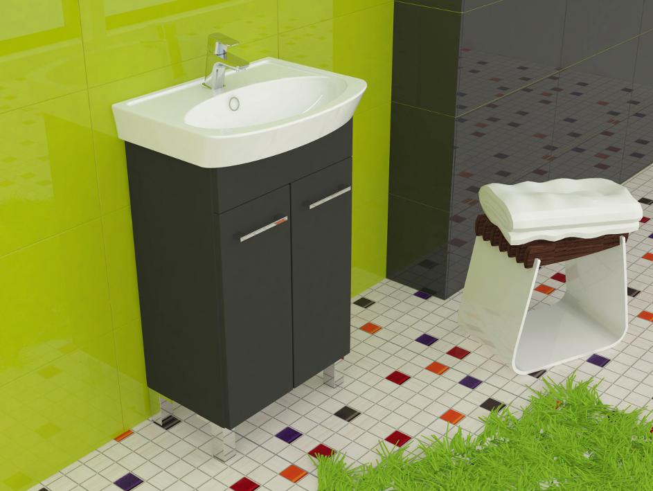 master 60 graphit waschbecken mit unterschrank waschtisch. Black Bedroom Furniture Sets. Home Design Ideas
